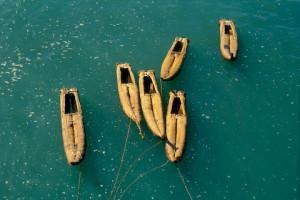 Os barquinhos chamados caballitos, Pimentel, Peru. Foto Margi Moss