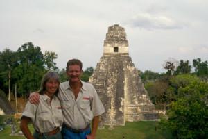 O magnífico templo maya de Tikal, Guatemala.