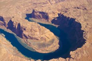 O rio colorado antes de entrar no Grand Canyon. Foto Margi Moss
