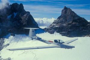 ximango atravessando alpes nevados
